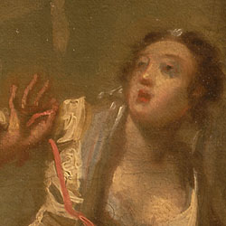 Detail from Joseph Highmore, The Angel of Mercy